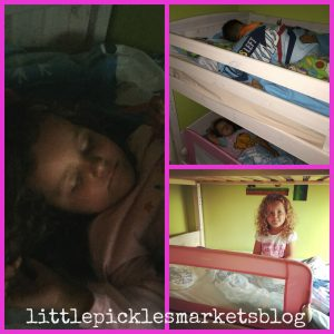 Baby Pickle Happy in Her Big Bed