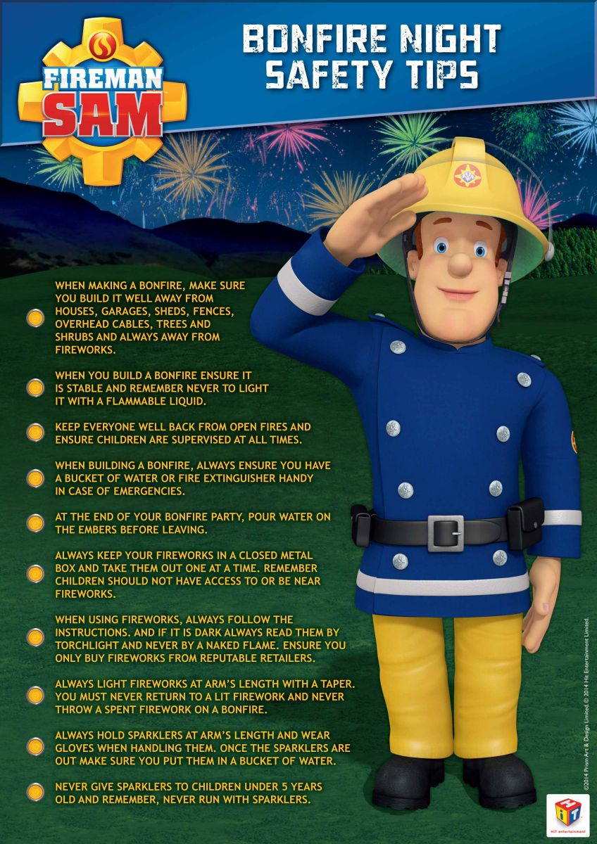 Image result for fireman sam firework safety