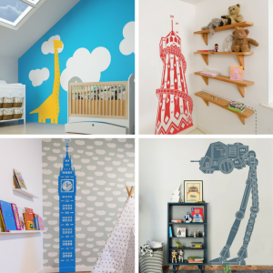 Inkmill Vinyl decals for decorating children's rooms